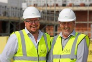 Abel Homes site managers and Pride in the Job Award winners Tim Walsingham left and Alan Read sm