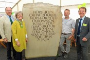One of the two standing stones at Hingham is unveiled sm