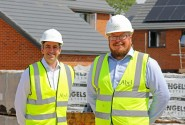 Pride in the Job winner Tim Walsingham right and Abel Homes managing director Paul LeGrice sm