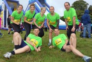 The Abel Homes and Abel Energy team all ready for the off at the Gung Ho event at Earlham Park sm2