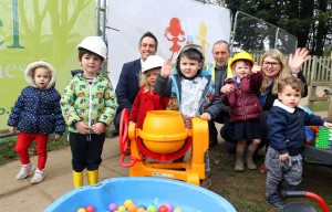 Abel Homes donation of fencing to Carbrooke pre school sm