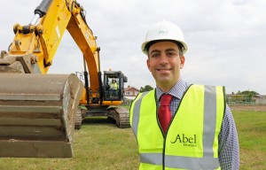 Cutting the first sod at Abel Homes Mattishall site 1