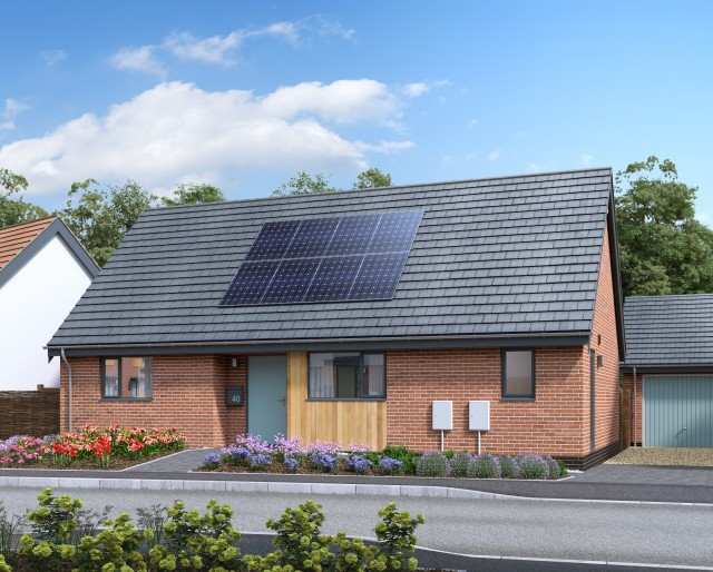 Plot 34 » A detached 2 bedroom bungalow with a single garage
