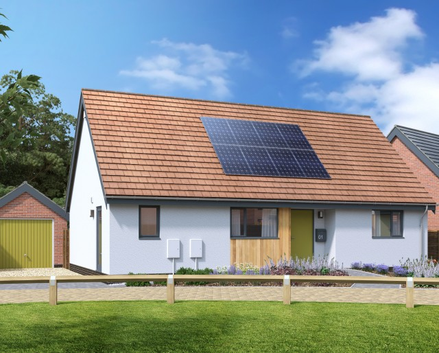 Plot 35 » A detached 2 bedroom bungalow with a single garage