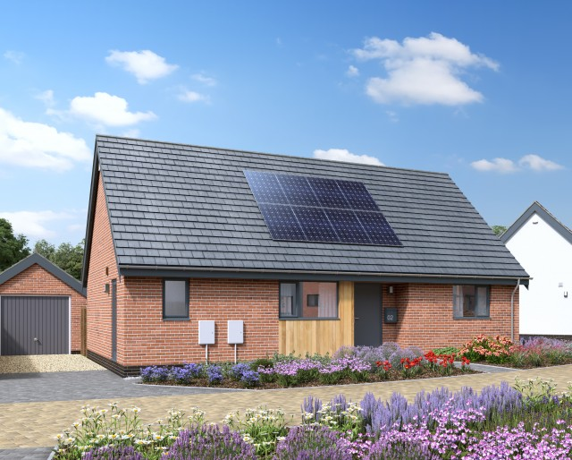 Plot 36 » A detached 2 bedroom bungalow with a single garage