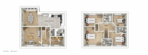 ALH040 Swaffam 3D Floorplan Type H4P Plots 165 215 Amend 3