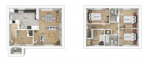 ALH040 Swaffam 3D Floorplan Type H4B Plots 166 175 203 217 225 243