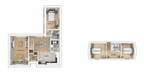 ALH040 Swaffam 3D Floorplan Type H3G Plots 176 179