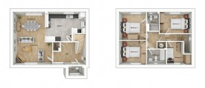 ALH040 Swaffam 3D Floorplan Type H4B Plots 209 217 .